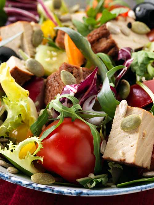 Smoked Tofu Salad - Vegan - Laura's Idea