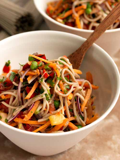 Spicy Soba Noodles - Laura's Idea - Vegan
