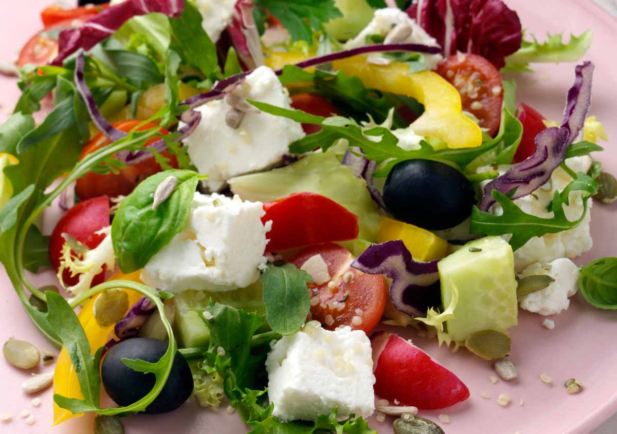 Feta Cheese Salad - Laura's Idea