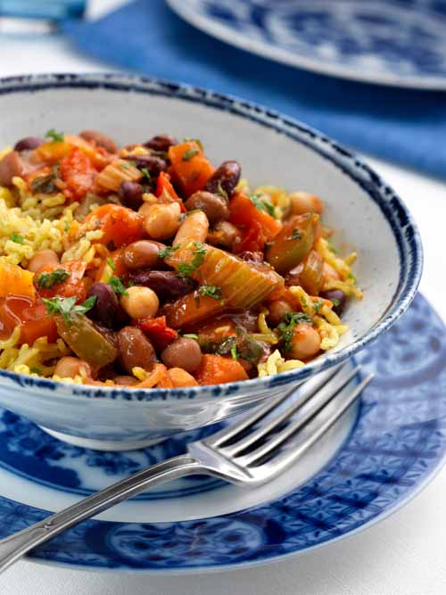 red kidney beans chickpeas and rice