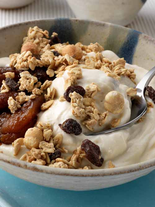 Healthy Breakfast - Laura's Idea - apricot yogurt pot