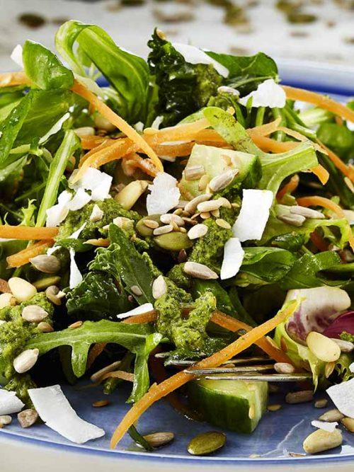 Raw Seed Salad - Vegan - Laura's Idea