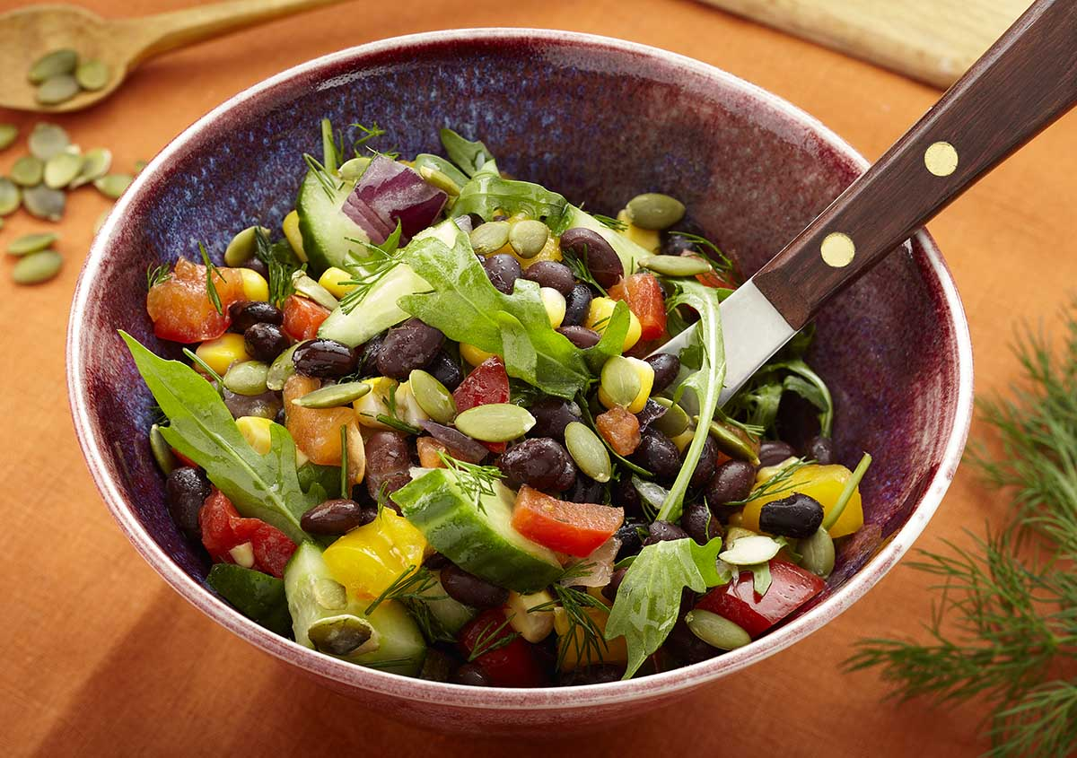 Black Bean Salad - Vegan - Laura's Idea